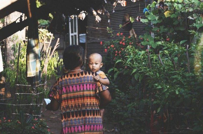 Miejsce dla dzieci w ogrodzie